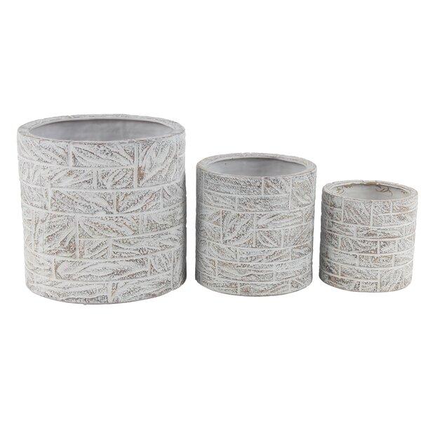 Kuebler Eclectic 3-Piece Ceramic Pot Planter Set by Williston Forge