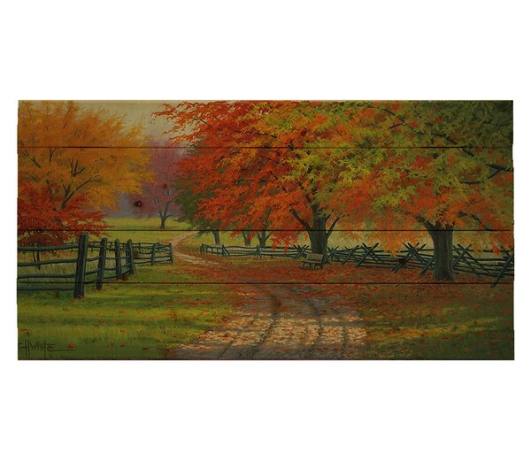 Path Through the Maples by Charles White Photographic Print Plaque by Hadley House Co
