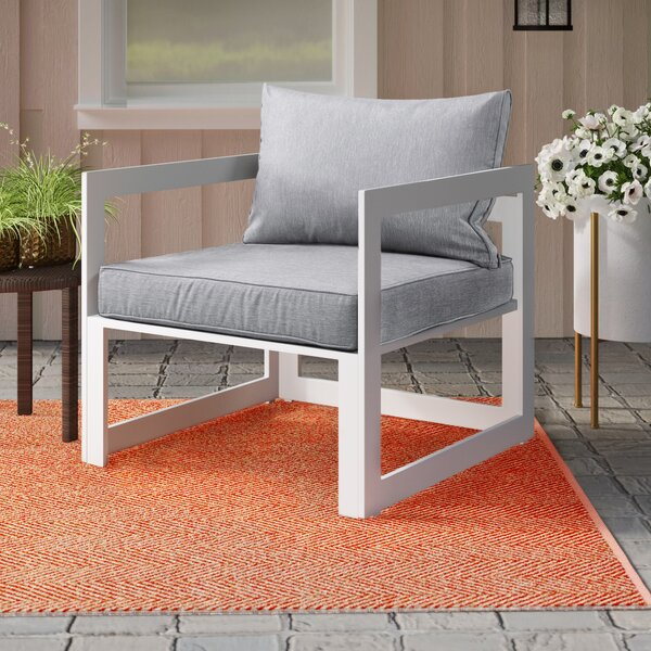 Annemarie Outdoor Patio Chair with Cushions by Modern Rustic Interiors