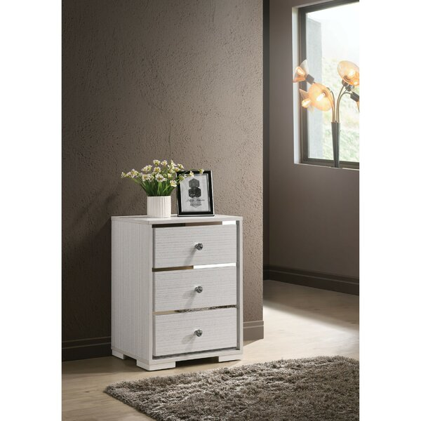 Terrill 3 Drawer Nightstand by Orren Ellis