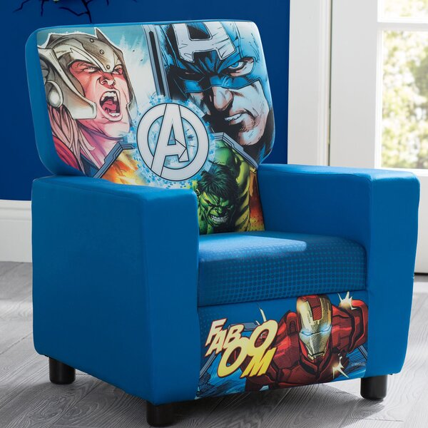 Marvel Avengers High Back Upholstered Kids Club Chair by Delta Children