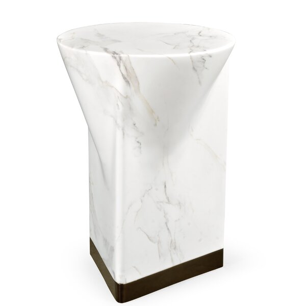 Biscayne Faux Marble Side Table by Jonathan Charles Fine Furniture