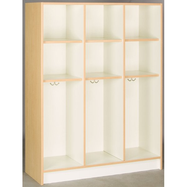 3 Tier 3 Wide Coat Locker by Stevens ID Systems