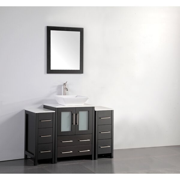 Megara 48 Single Bathroom Vanity Set with Mirror by Brayden Studio