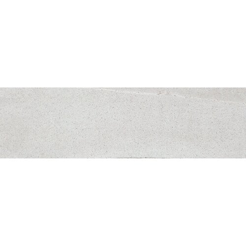 Burlington 24 x 4 Bullnose Tile Trim in Light Gray by Madrid Ceramics