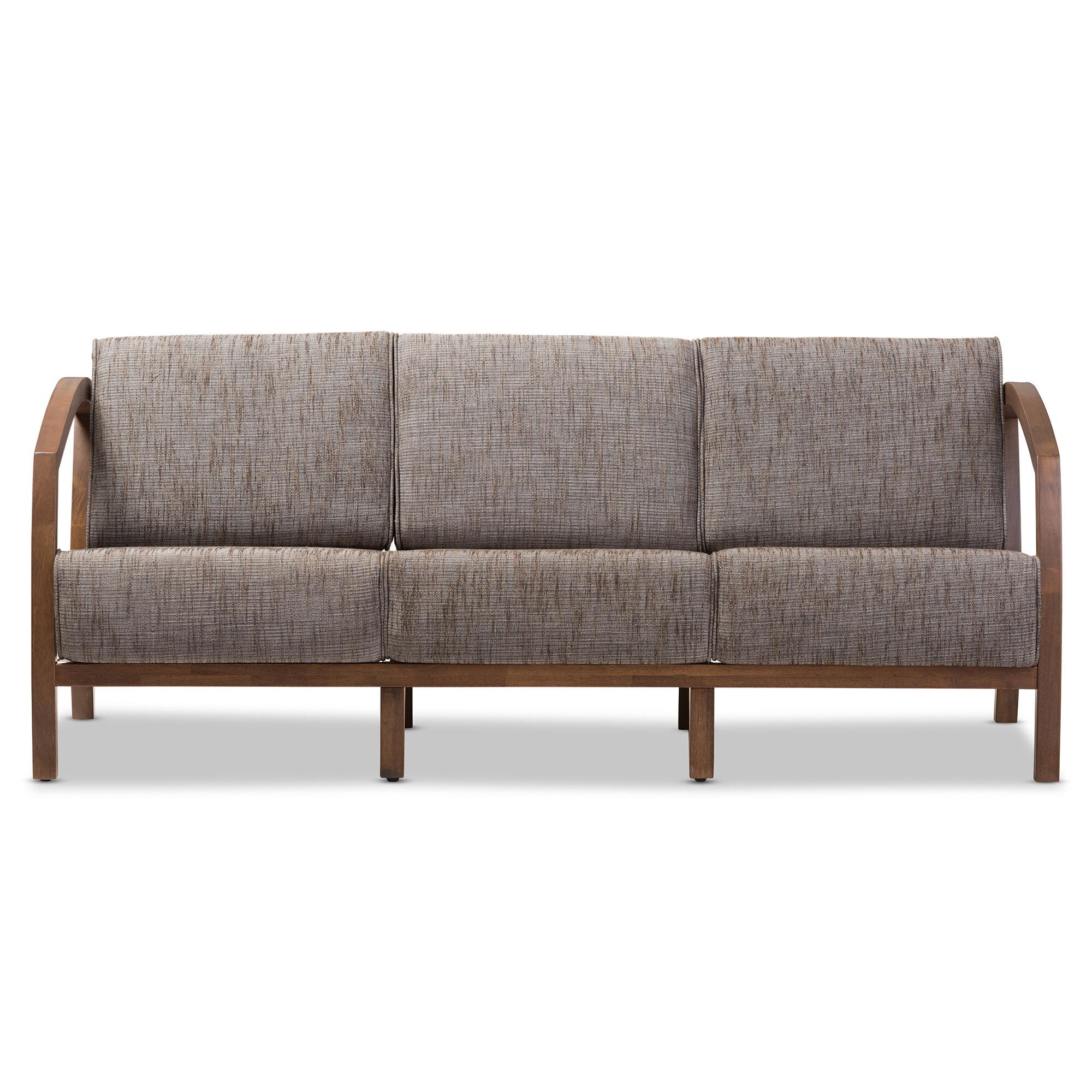 Whole Interiors Baxton Studio Arrigo 3 Seater Sofa Reviews Wayfair