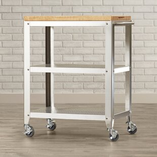 Cucina Americana Kitchen Cart with Butcher Block Top by John Boos Kitchen & Dining Furniture