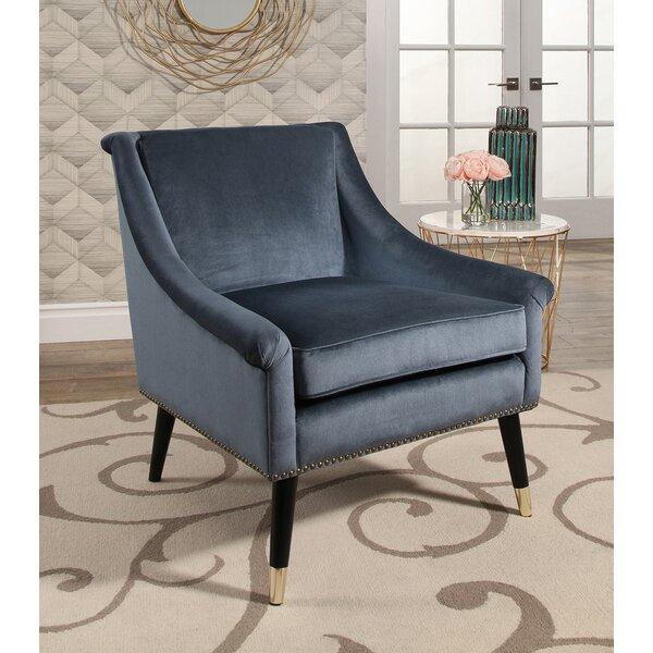 Mercer41 Woodford Velvet Swoop Arm Chair U0026 Reviews | Wayfair