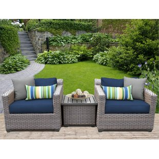 Florence 3 Piece Conversation Set with Cushions by TK Classics