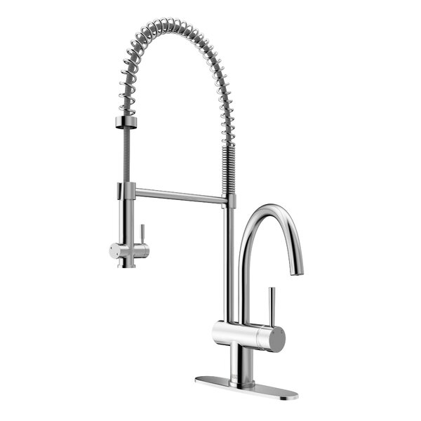 Dresden Pull Down Single Handle Kitchen Faucet by VIGO