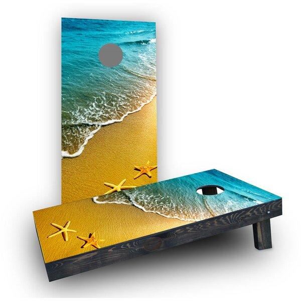 Beach Starfish Theme Cornhole Boards (Set of 2) by Custom Cornhole Boards