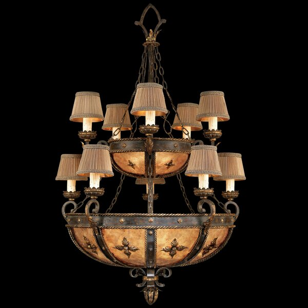 Castile 10 - Light Shaded Tiered Chandelier by Fine Art Lamps Fine Art Lamps