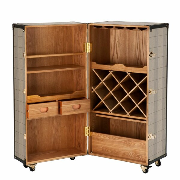Wooden Wine Bar Cabinet By Eichholtz