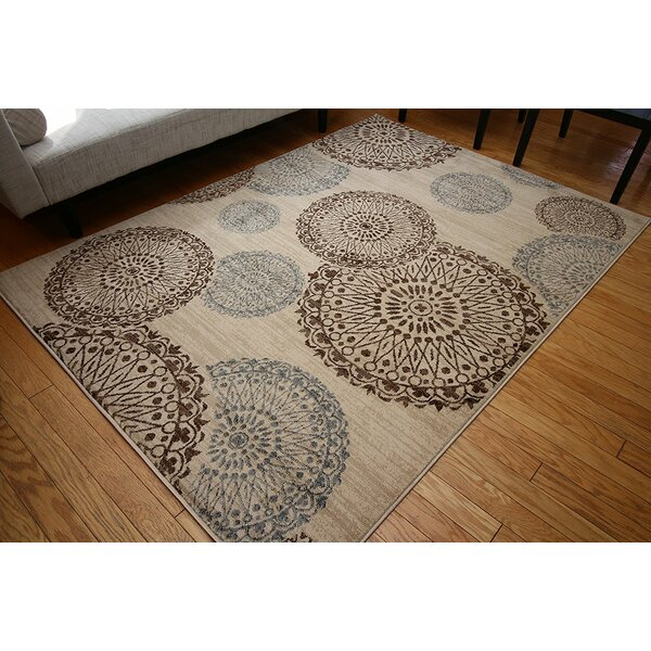 Amira Beige Area Rug by Charlton Home