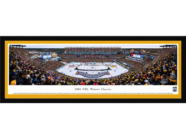 NHL Winter Classic 2016 - Bruins by Christopher Gjevre Framed Photographic Print by Blakeway Worldwide Panoramas, Inc