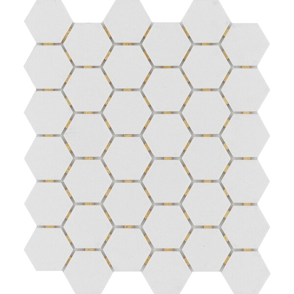 Zone Hex 2 x 2 Porcelain Mosaic Tile in Matte Gray by Emser Tile