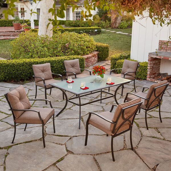 LeRay 7 Piece Dining Set with Cushions by Winston Porter