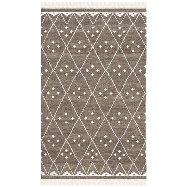 Natural Kilim Hand-Woven/Flat-Woven Brown/Ivory Area Rug by Safavieh