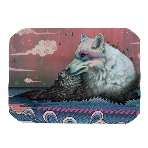 Lone Wolf Placemat by KESS InHouse