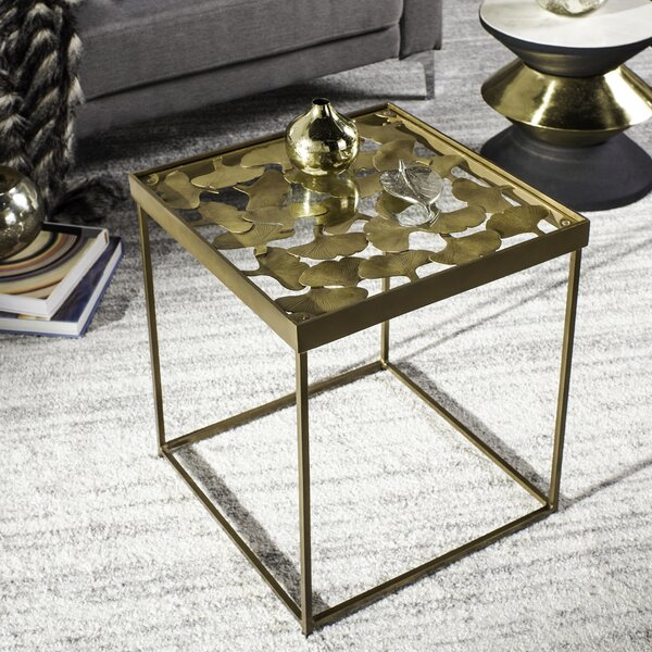 Laila Leaf End Table By Everly Quinn