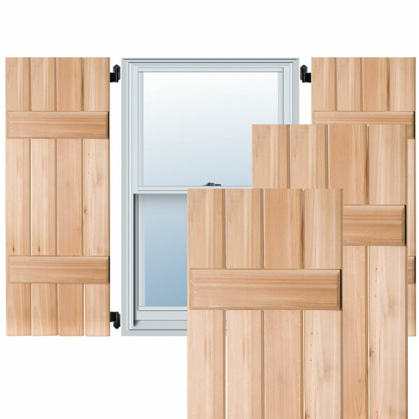 Exterior 4 Composite Wood Board-N-Batten Shutter (Set of 2) by Ekena Millwork