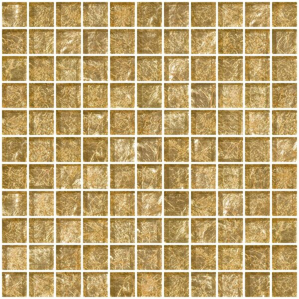 1 x 1 Glass Mosaic Tile in Champagne by Susan Jablon