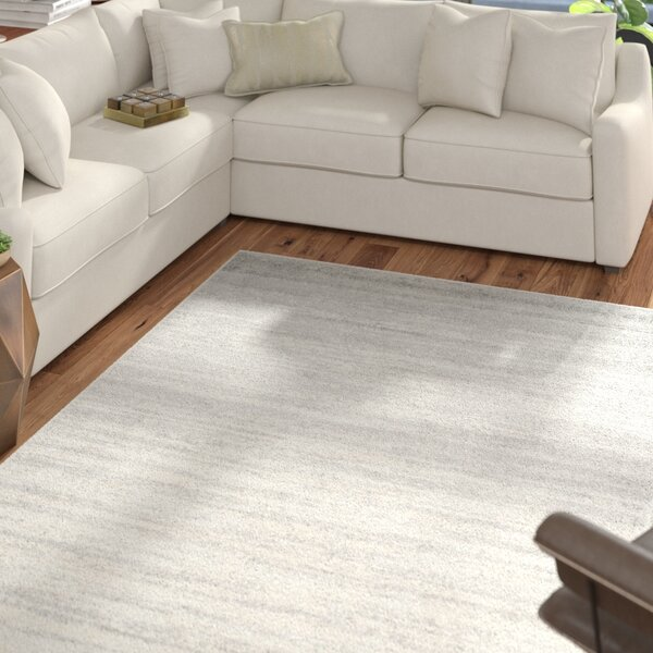 Mcguire Ivory/Silver Area Rug by Mercury Row