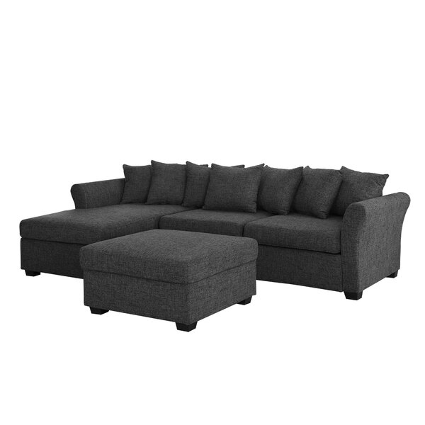 Buy Online Quality Ringgold Left Hand Facing Classic Sectional with Ottoman by Wrought Studio by Wrought Studio