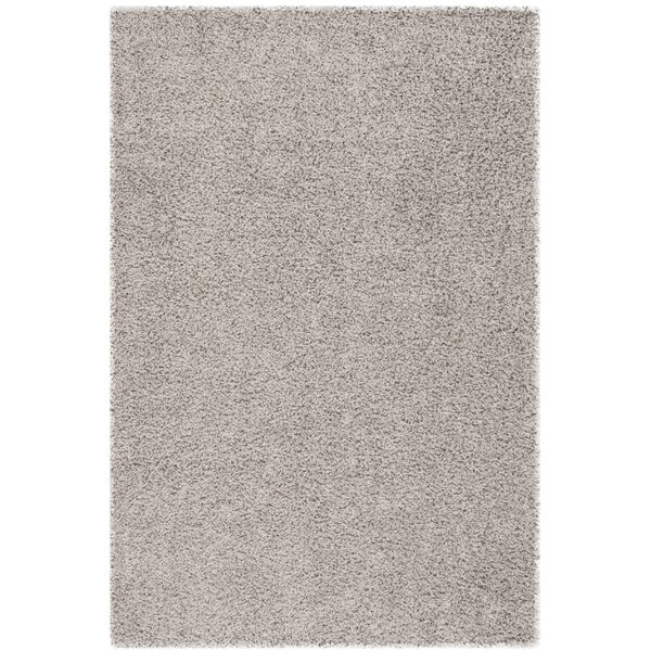 Fornax Shag Silver Area Rug by Wrought Studio