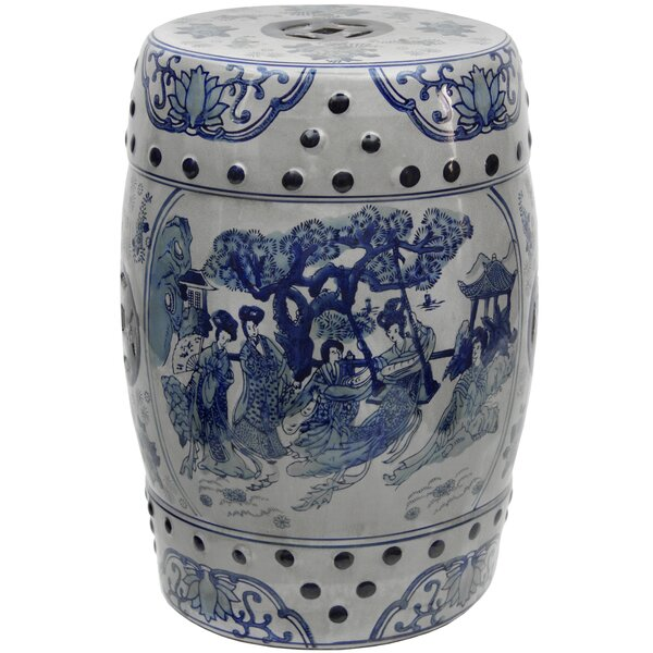 Christien Porcelain Garden Stool by World Menagerie World Menagerie