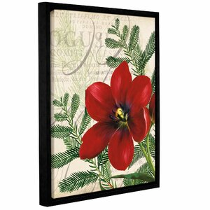 Vintage Winter Noel Framed Graphic Art on Wrapped Canvas by Charlton Home