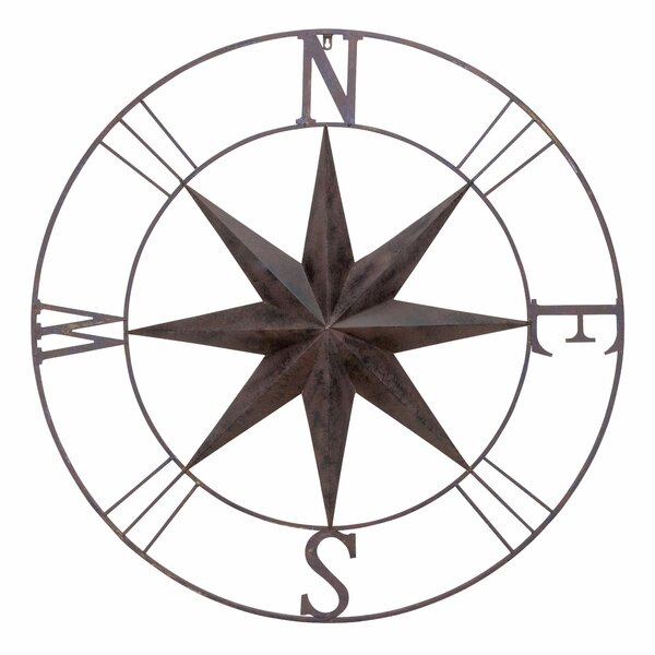 Metal Circle Wall Decor bayaccents antique metal compass rose wall decor & reviews | wayfair