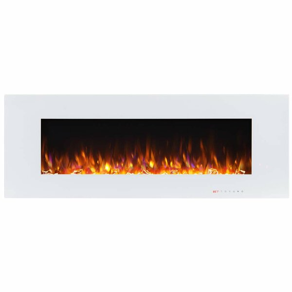 Crugers Wall Mounted Electric Fireplace By Latitude Run