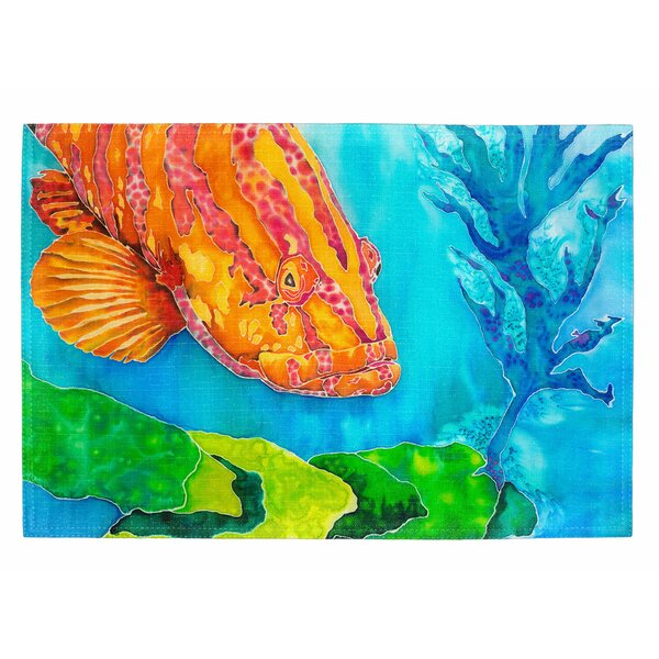 Grouper in the Green Placemat (Set of 2) by Live Free