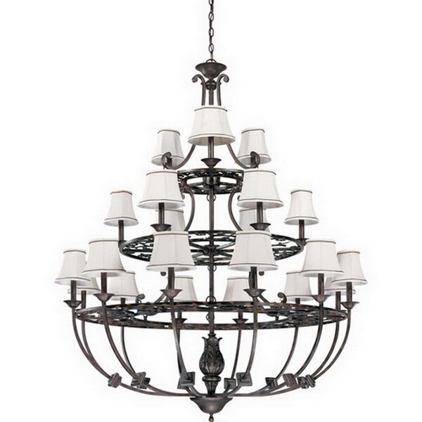 Waverly Hall 21-Light Shaded Chandelier by Astoria Grand