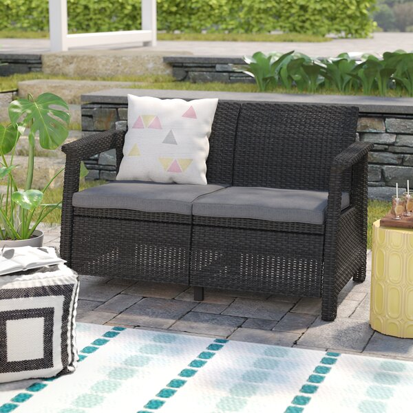Merveilleux Mercury Row Berard Patio Loveseat With Cushions U0026 Reviews | Wayfair