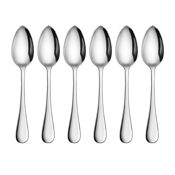 Rain 18/10 Stainless Steel Dessert Spoon (Set of 6) by New Star Food Service