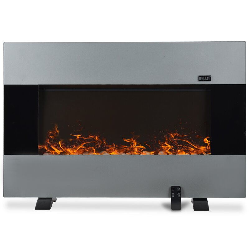 with stainless electric fireplace and mount northwest remote wall steel dp