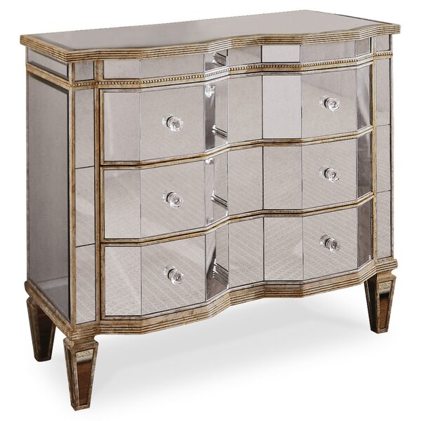 Matherly Mirrored 3 Drawer Chest by Rosdorf Park Rosdorf Park