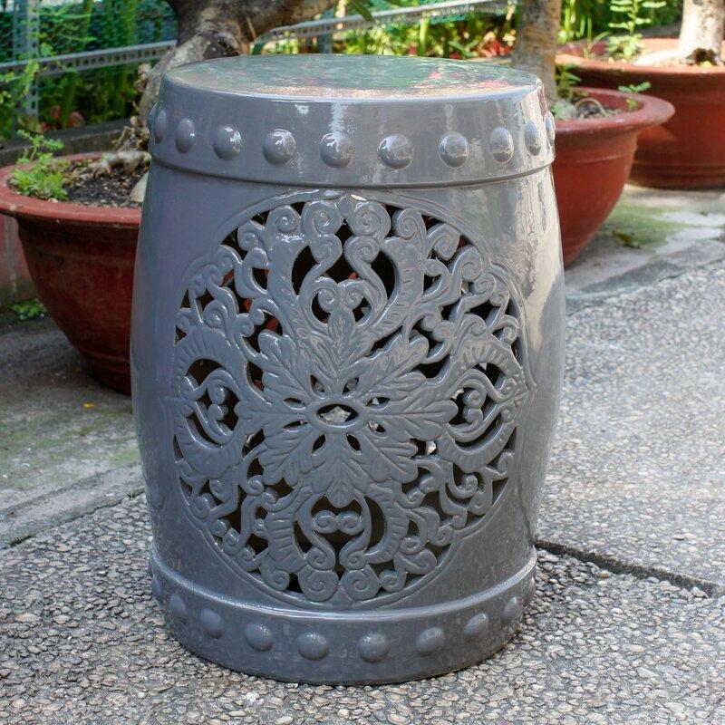 House Of Hampton Nieto Ceramic Garden Stool Amp Reviews