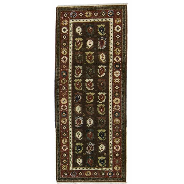 Zeykhour Hand-Knotted Wool Brown Area Rug
