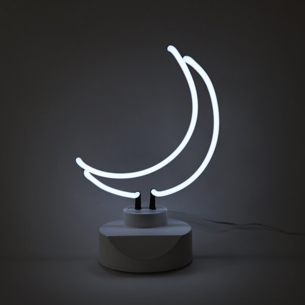 Moon Neon Table Lamp by Oliver Gal