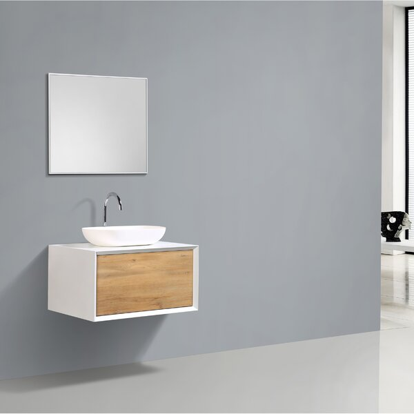 Grissett 30 Wall-Mounted Single Bathroom Vanity Set by Orren Ellis