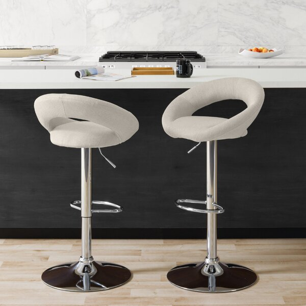 Menard Adjustable Height Bar Stool (Set of 2) by Ivy Bronx