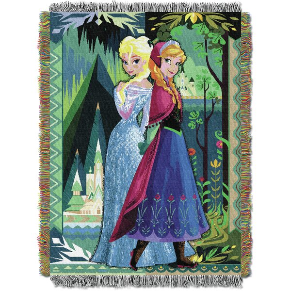 Frozen - Two Worlds One Heart Tapestry Throw by Northwest Co.
