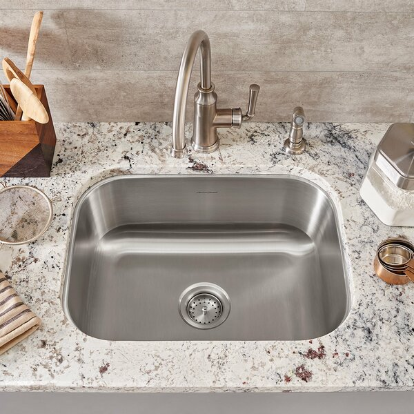 Portsmouth 23.38 L x 17.75 W Single Bowl Undermount Kitchen Sink by American Standard