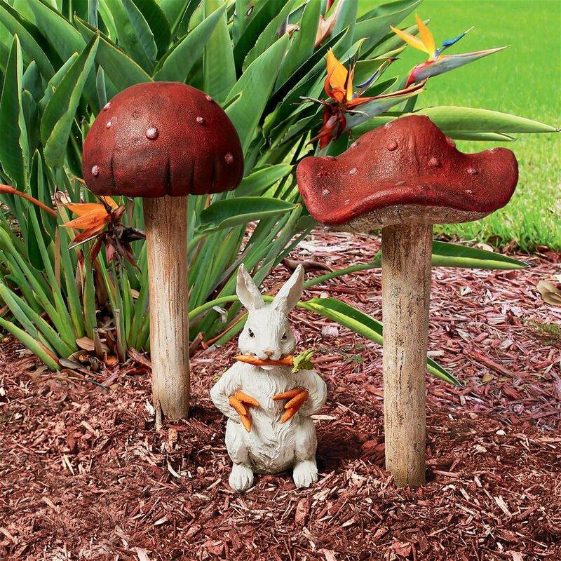 Design Toscano Gnome Wild Mushroom 2 Piece Garden Sign Set Wayfair
