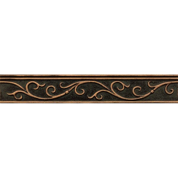Ambiance Gothic Leaf Liner 1-3/4 x 12 Resin Tile in Venetian Bronze by Bedrosians