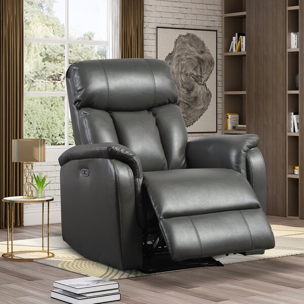 Ammiel Faux Leather Power Rocker Recliner W003504487