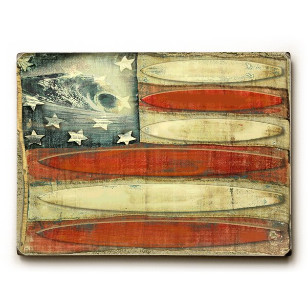 American Flag - Surfboards Graphic Art by Artehouse LLC